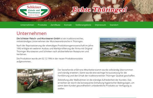 Vorschau von www.schleizer-fleisch-und-wurstwaren.de, Schleizer Fleisch- und Wurstwaren GmbH