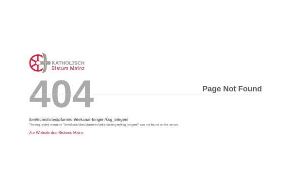 Vorschau von www.ksg.bingen.bistummainz.de, Bingen - KSG