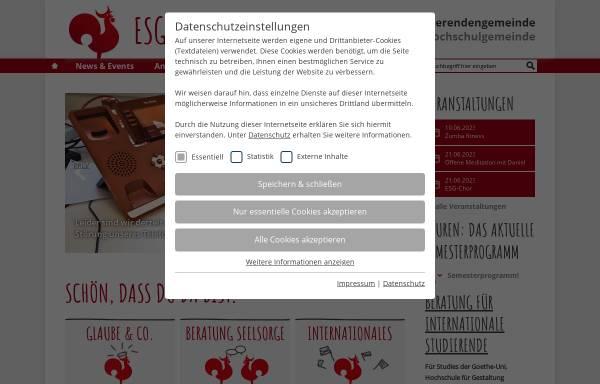 Vorschau von www.esg-frankfurt.de, Frankfurt/Main (FH) - ESG