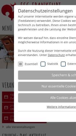 Vorschau der mobilen Webseite www.esg-frankfurt.de, Frankfurt/Main (FH) - ESG