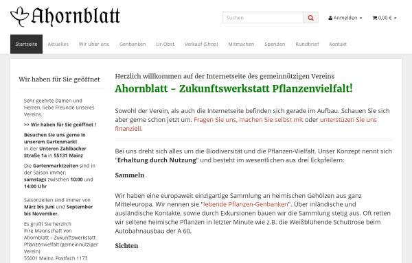Vorschau von www.ahornblatt-garten.de, Ahornblatt GmbH