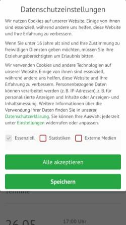 Vorschau der mobilen Webseite typografie.de, Verlag Hermann Schmidt