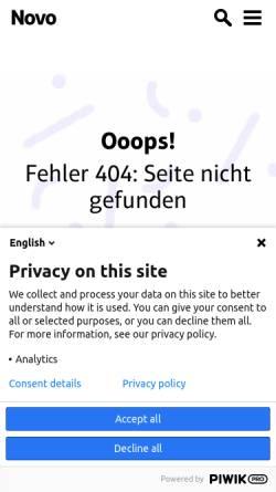Vorschau der mobilen Webseite www.novo-magazin.de, NOVO 67/68: Die Homöopathie ist ein großer Irrtum
