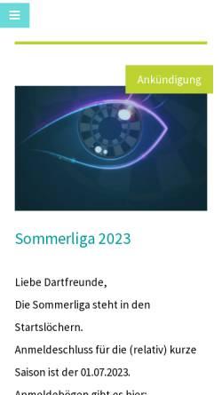 Vorschau der mobilen Webseite aachenerdartev.de, Aachener Dart e.V.