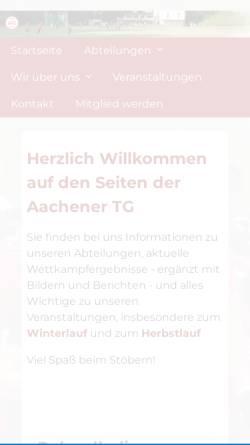 Vorschau der mobilen Webseite www.atg-aachen.de, Aachener Turn-Gemeinde 1862 e.V.