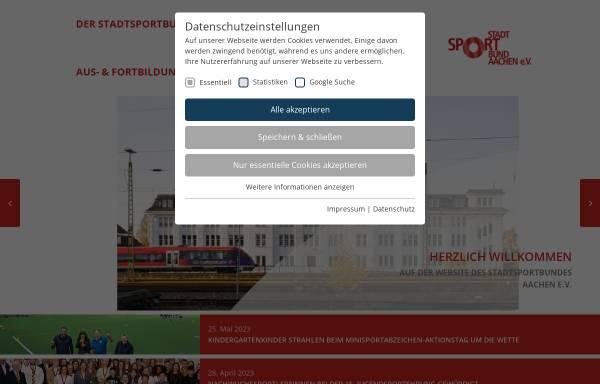 Vorschau von www.sportinaachen.de, StadtSportBund Aachen e.V.