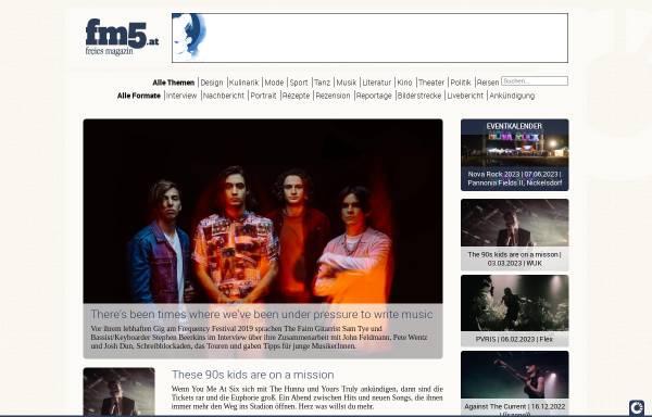 Vorschau von www.fm5.at, FM5 - Freies Magazin