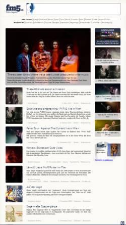 Vorschau der mobilen Webseite www.fm5.at, FM5 - Freies Magazin