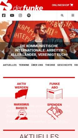 Vorschau der mobilen Webseite www.derfunke.at, Der Funke