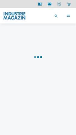Vorschau der mobilen Webseite www.industriemagazin.at, Industriemagazin
