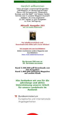 Vorschau der mobilen Webseite www.oe-journal.at, Österreich Journal