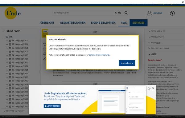Vorschau von www.lindeonline.at, Steuer- und WirtschaftsKartei