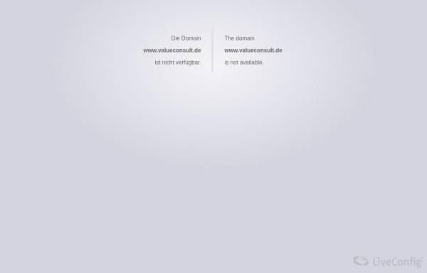 Vorschau von www.valueconsult.de, ValueConsult - Ganzheitliche Unternehmensberatung