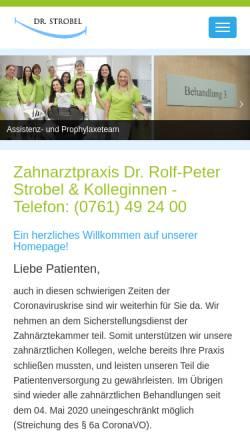Vorschau der mobilen Webseite www.dr-schwalber.de, Zahnarztpraxis Dr. Joachim Schwalber und Dr. Rolf-Peter Strobel