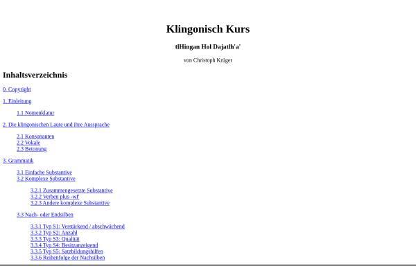 Vorschau von seekay.eidoloskop.com, Klingonisch-Kurs