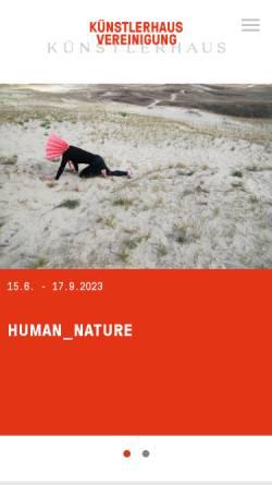 Vorschau der mobilen Webseite www.kuenstlerhaus.at, Künstlerhaus Wien