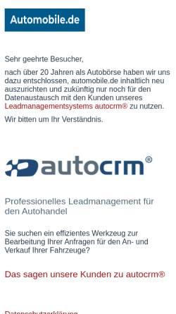 Vorschau der mobilen Webseite www.automobile.de, Automobile.de