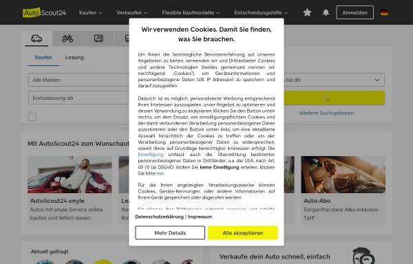 Vorschau von www.autoscout24.de, AutoScout24 GmbH