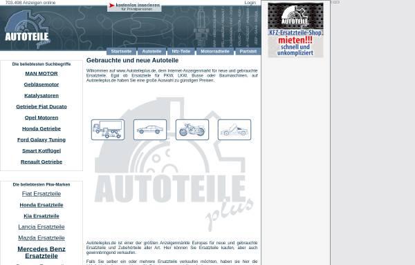 Vorschau von www.autoteileplus.de, Autoteile plus GmbH