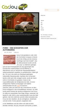 Vorschau der mobilen Webseite www.carjoy.ch, carjoy AG