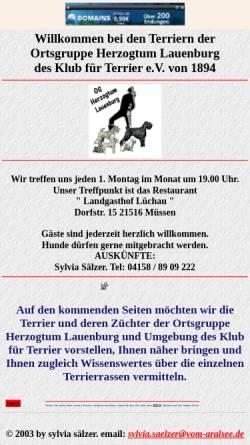 Vorschau der mobilen Webseite oglauenburg.schwarzeterrier.de, OG Herzogtum Lauenburg