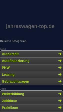 Vorschau der mobilen Webseite www.jahreswagen-top.de, Jahreswagen-Top, Johann Braun