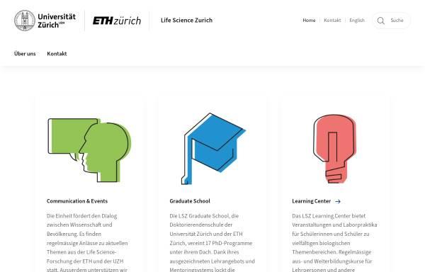 Vorschau von www.lifescience-zurich.ch, Life Science Zurich