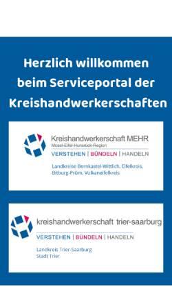 Vorschau der mobilen Webseite www.das-handwerk.de, Kreishandwerkerschaften MEHR-Trier-Saarburg