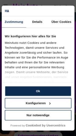 Vorschau der mobilen Webseite www.meinauto.de, MeinAuto.de