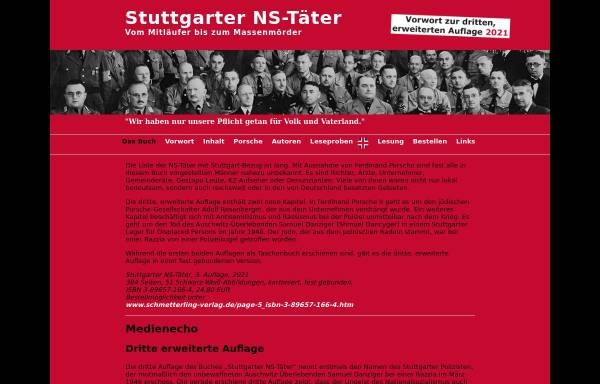 Vorschau von stuttgarter-ns-taeter.de, Stuttgarter-NS-Taeter Buch