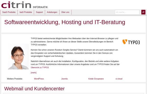 Vorschau von www.citrin.ch, Citrin - Ansprechpartner für Internet-Lösungen.