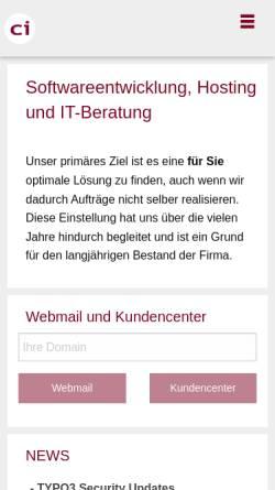 Vorschau der mobilen Webseite www.citrin.ch, Citrin - Ansprechpartner für Internet-Lösungen.