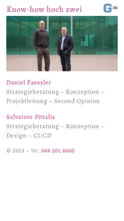 Vorschau der mobilen Webseite www.g36.ch, G36 GmbH