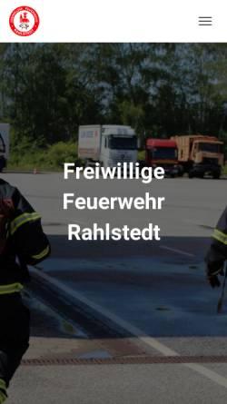 Vorschau der mobilen Webseite www.ff-rahlstedt.de, Freiwillige Feuerwehr Rahlstedt