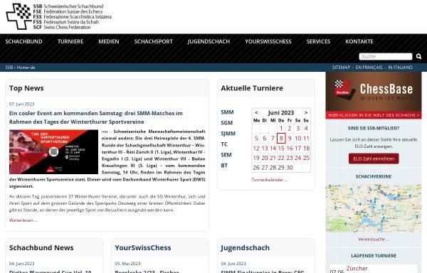 Vorschau von www.swisschess.ch, Schweizer Schachbund