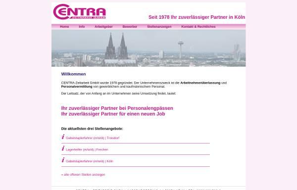 Vorschau von www.centra-zeitarbeit.de, Centra-Zeitarbeit GmbH