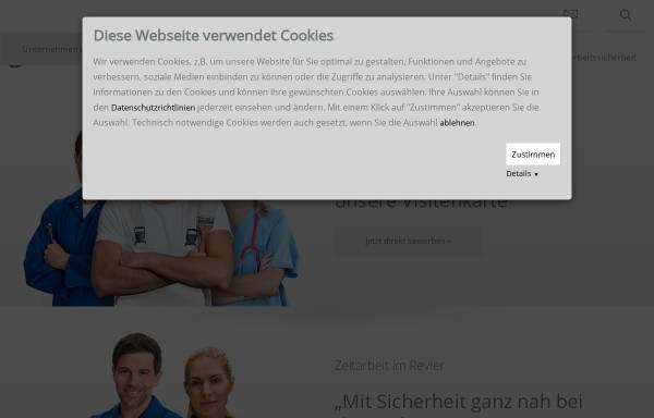 Vorschau von www.hoffmann-zeitarbeit.de, Hoffmann Unternehmensgruppe