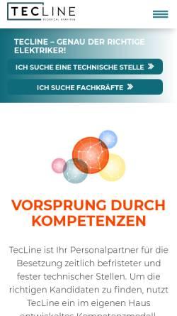 Vorschau der mobilen Webseite www.tecline.de, TecLine