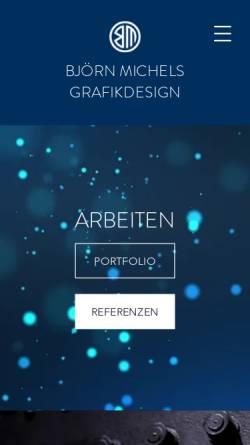 Vorschau der mobilen Webseite www.bmdesign.de, Bjoern Michels