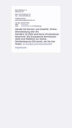 Vorschau der mobilen Webseite www.byteshift.de, Byteshift Webdesign
