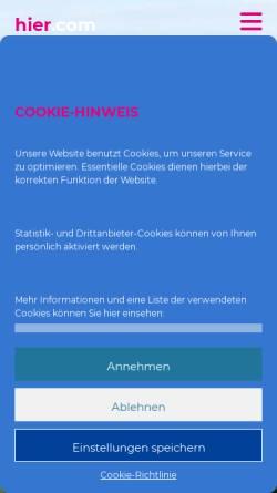 Vorschau der mobilen Webseite www.hier.com, Hanno Zwicker