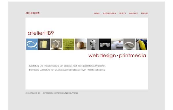 Vorschau von www.atelierhb9.de, atelierHB9 - Webdesign und Printmedien