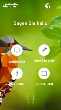 Vorschau der mobilen Webseite sebastian-klammer.de, Sebastian Klammer