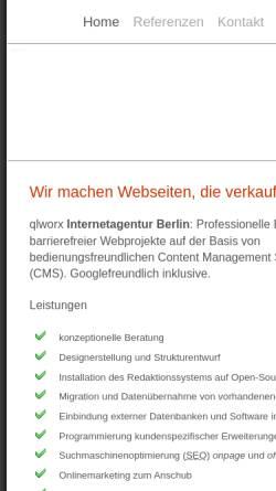 Vorschau der mobilen Webseite www.qlworx.de, Uwe Kuhl
