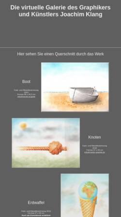 Vorschau der mobilen Webseite www.merlin-graphik.de, Klang, Joachim
