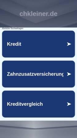 Vorschau der mobilen Webseite www.chkleiner.de, Kleiner, Christian