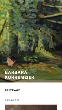 Vorschau der mobilen Webseite www.art-bk.de, Körkemeier, Barbara