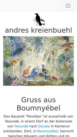 Vorschau der mobilen Webseite www.kreienbuehl.name, Kreienbühl, Andres
