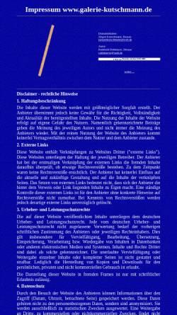 Vorschau der mobilen Webseite www.galerie-kutschmann.de, Kutschmann, Jürgen
