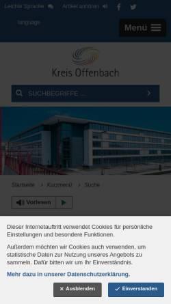 Vorschau der mobilen Webseite www.kreis-offenbach.de, BürgerGIS Kreis Offenbach